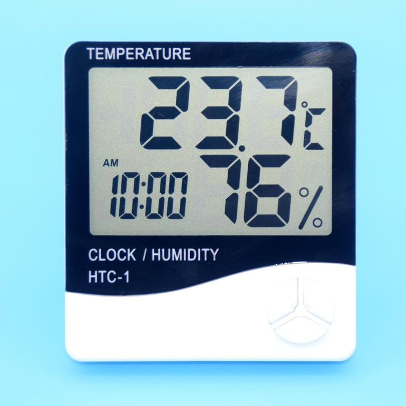 Wholesale HTC-1 Digital Thermometer Hygrometer with alarm clock 2