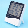 Wholesale HTC-1 Digital Thermometer Hygrometer with alarm clock 3