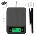 USB Electronic Coffee Scale with Timer and Thermometer BST-K308