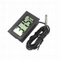 Waterproof Embedded Digital Fridge Freezer temperature meter LCD Digital thermom
