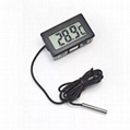 Waterproof Embedded Digital Fridge Freezer temperature meter LCD Digital thermom