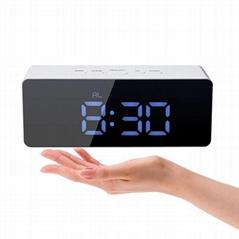Hot selling popular Digital led Mirror Alarm Clock USB Charging Tabletop electro
