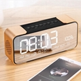LED Mirror Time Clock Bluetooth Speaker