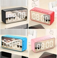 Mirror LED Display Time Clock Speaker bluetooth  mini speaker