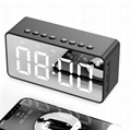Mirror LED Display Time Clock Speaker bluetooth  mini speaker