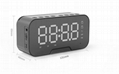 2019 New Smart Alarm clock with Phone Holder FM Radio BT Speaker Alarm Clock