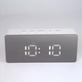 New Digital Alarm clock with temperature Snooze Functions USB LED mirror Clock
