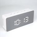 New Digital Alarm clock with temperature Snooze Functions USB LED mirror Clock
