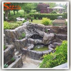 Artificial Rockery Garden Stone Resin Water Fountain