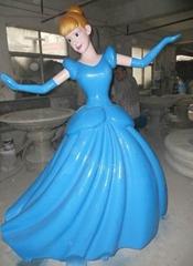 玻璃钢灰姑娘卡通雕塑