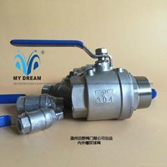 Threaded ball valve