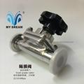 316L不锈钢卡箍快装隔膜阀生物制药专用 3