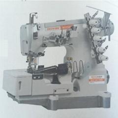 Interlock sewing machine for tape binding