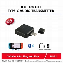 usb type c Bluetooth dongle audio transmitter adpter for Switch PS4-NPA1