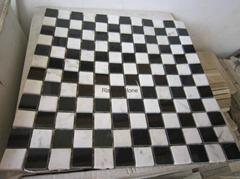 nero marquino marble mosaic tile