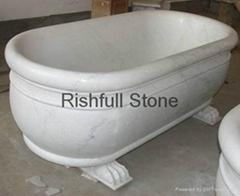 Carrara white marble bath tub design