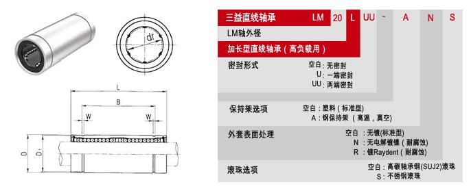 LM L标准加长型samick直线轴承 3