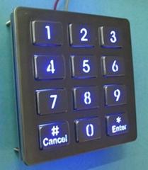 自动售货机用背光金属键盘