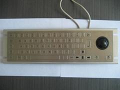 带轨迹球金属PC键盘