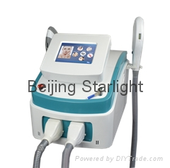 shr ipl equipment with two ipl handpiece