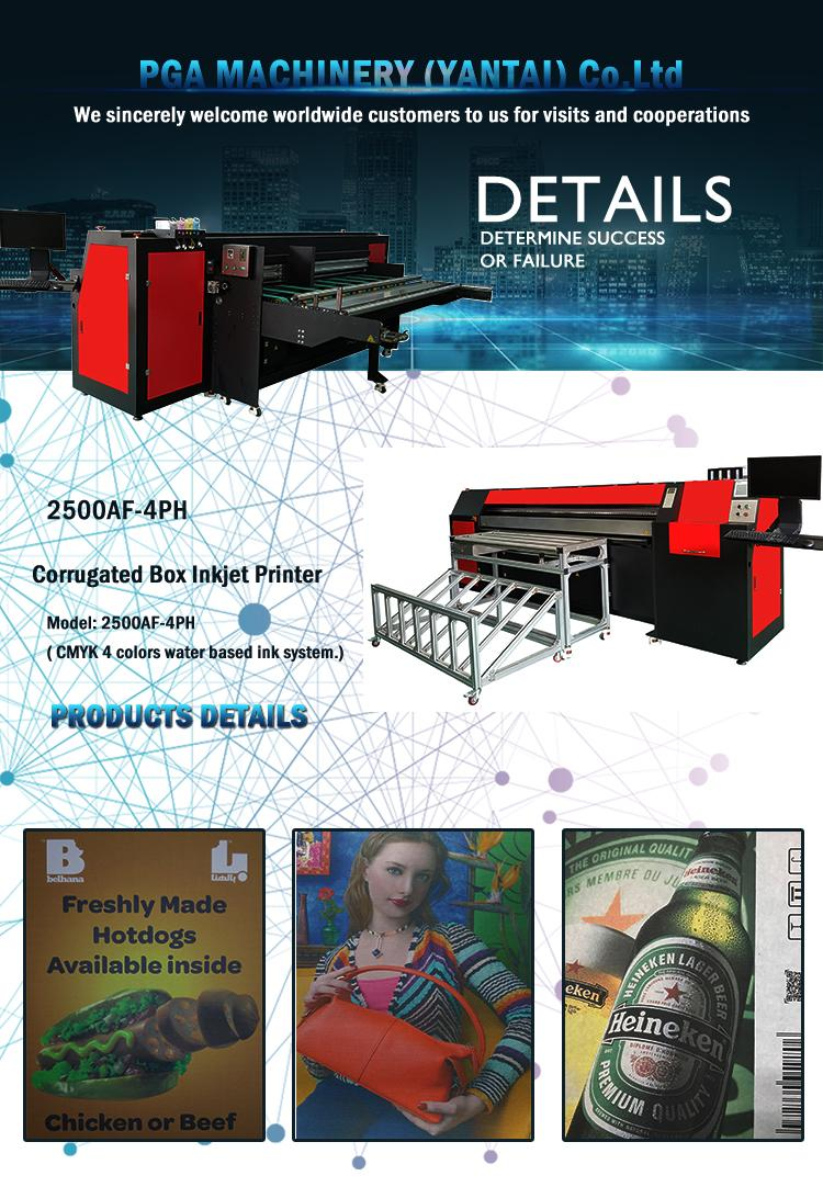 Pizza box printer for corrugated box / inkjet printer digital 2500AF-4PH 3