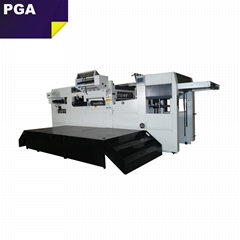 Paper hot foil stamping bag carton platen press die cutting machine CR1060F