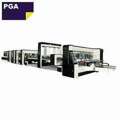 1228 corrugated box folder gluer stitcher machine / stitching machine