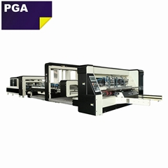 High speed one point gluing corrugated carton box folder gluer machine 1224