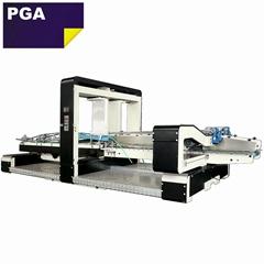 Automatic corrugated carton folding gluing machine 1224
