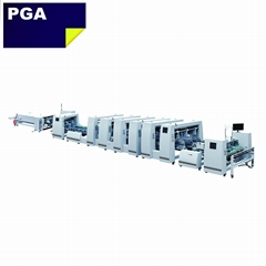 Automatic 4 6 corner box folder gluer machine for corrugated box BGM-1200A