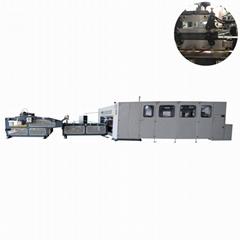 High speed corrugated carton box folder stitcher machine