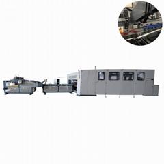 Corrugated carton box servo motor outer belt automatic folder stitcher machine