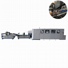 Hot sale corrugated box folder stitcher machine for fruit corrugated carton box