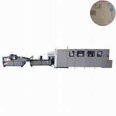 RSC straight line corrugated carton box folder stitcher machine for sale