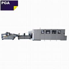 Automatic PLC controlling system corrugated carton box folder stitcher machine