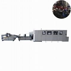 Automatic corrugated box single piece carton printed box stitching machine