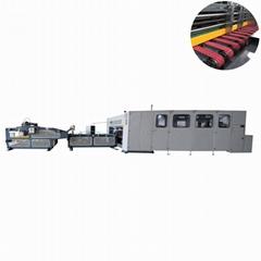 High speed corrugated box folder stitcher machine carton box making machine