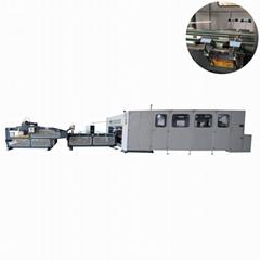 Automatic RSC straight line folding stitching machine corrugated carton box f