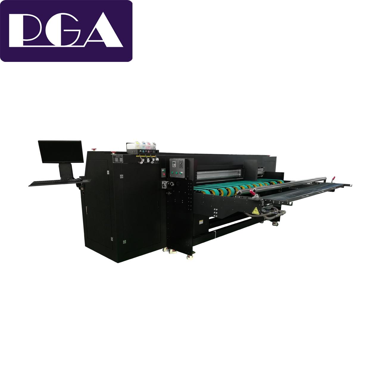 Corrugated box pizza box digital inkjet printer 2500AF-6PH 1
