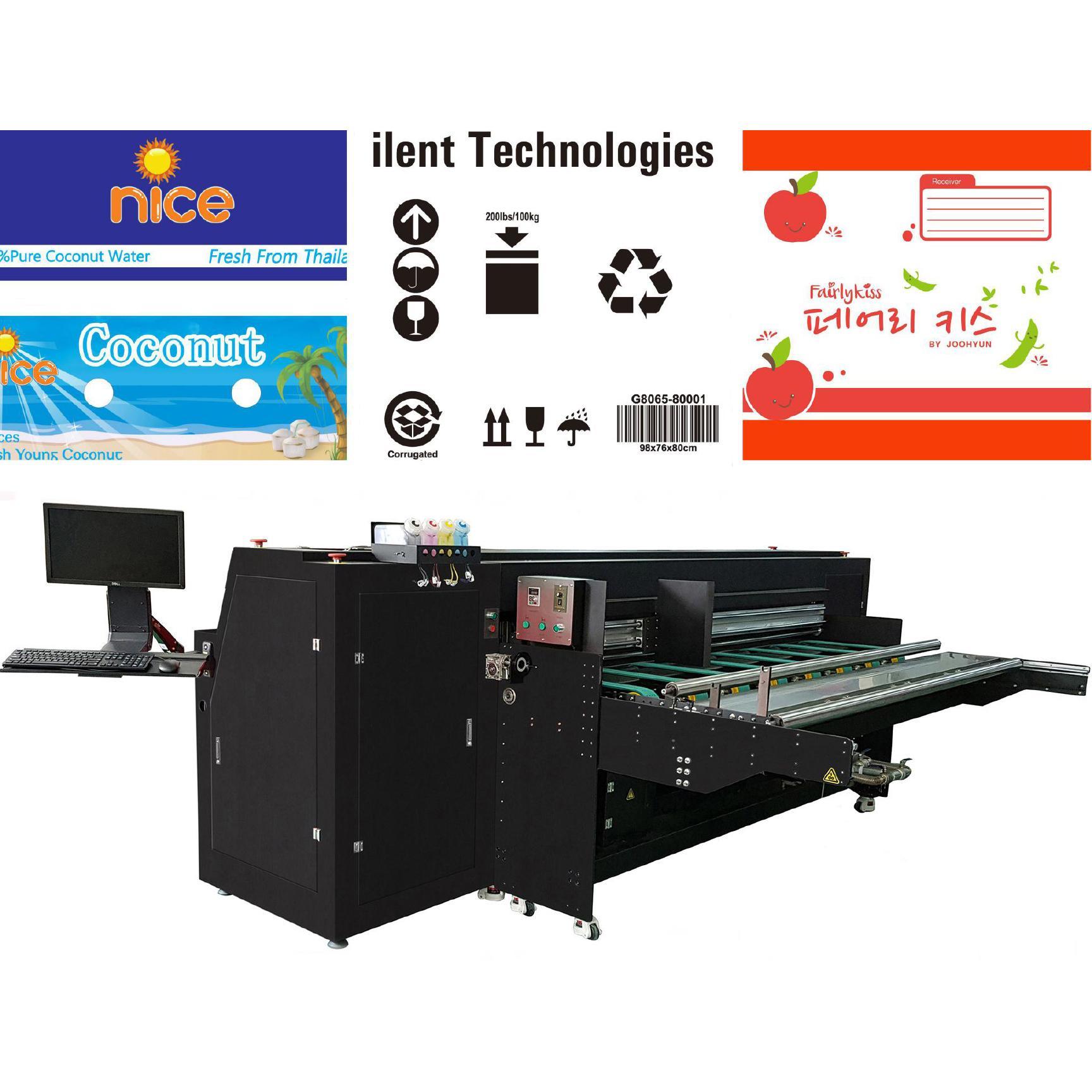 Pizza box inkjet printer for corrugated box/digital inkjet printer 2500AF-4PH 2