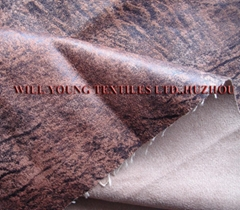 Sofa fabric-Suede with foil-stamping (W0925)