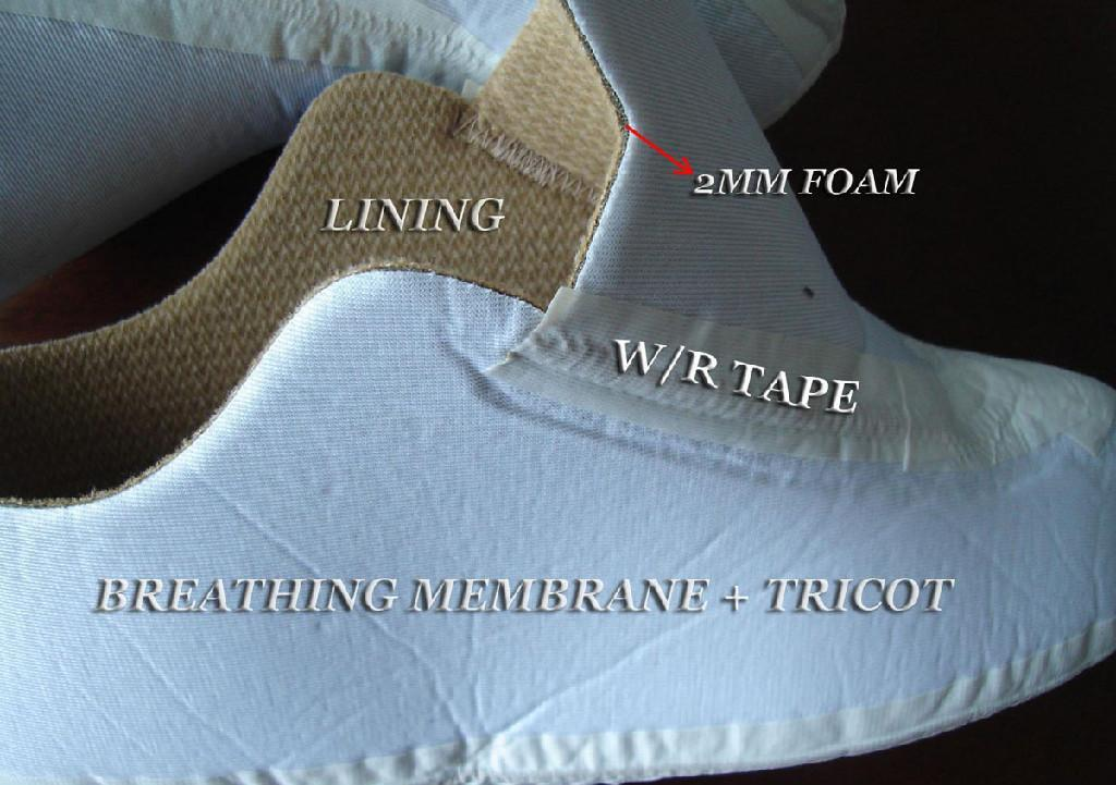 PTFE mambrane laminated with tricot   2