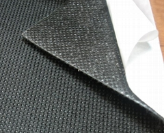 Self-adhesive silicone pater bonded fabrics