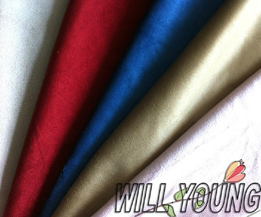 Warp knitted micro suede fabric 1