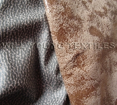 Tricot Suede with Foil Stamping,bronzed suede