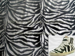 Animal printed faux fur velboa fabric