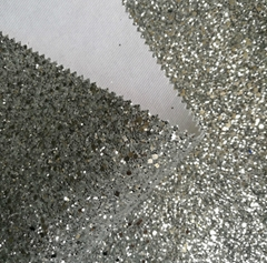 Glitter synthetic leathe