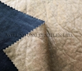Bronzed and crashed pattern suede bonded fabric for sofa