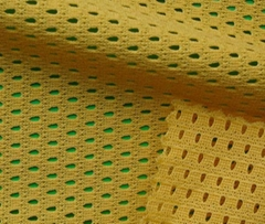 Warp knitted mesh fabric (for garment lining)