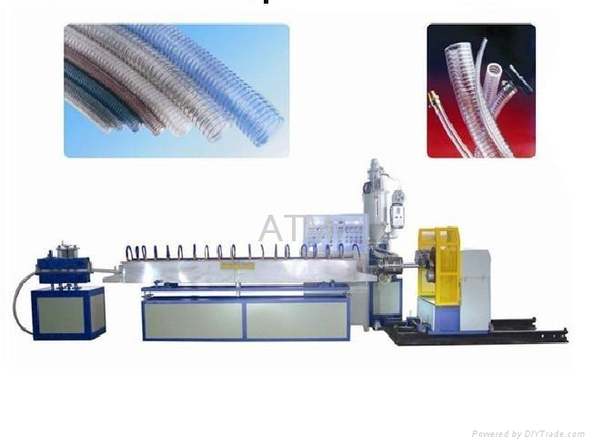 PVC Foil with wire round Flexible duct machine 1
